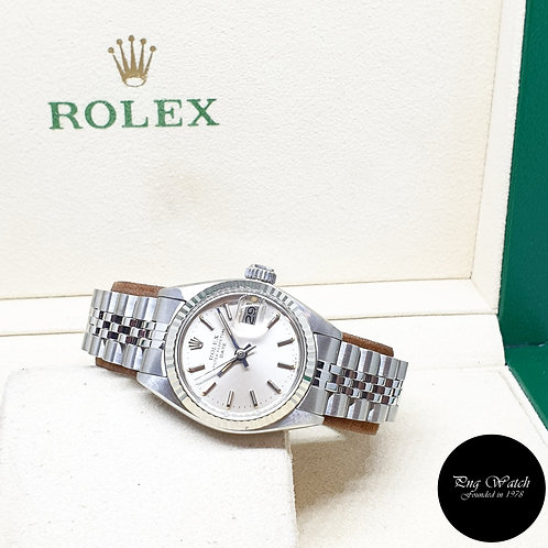 Rolex Oyster Perpetual 26mm Silver Indexes Ladies Datejust REF: 6917 (1978)