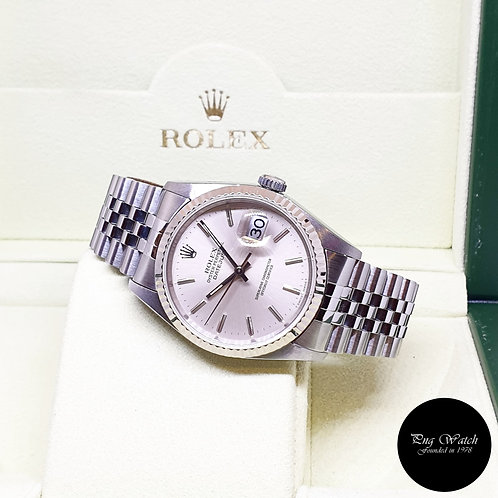 Rolex Oyster Perpetual 36mm Silver Indexes Datejust REF: 16234