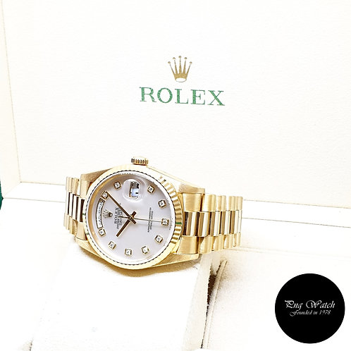 Rolex Oyster Perpetual 18K Yellow Gold MOP Diamonds Day-Date REF: 18238 (W)