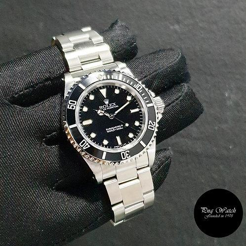 Rolex Oyster Perpetual Tritium No Date Black Submariner REF: 14060 (W)(2)