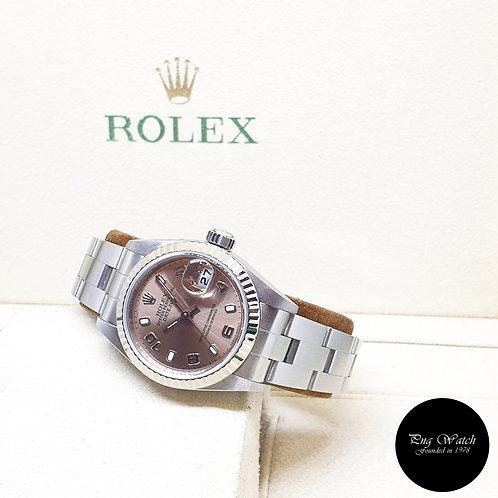 Rolex Oyster Perpetual 36mm Steel Salmon Pink Arabic Lady Datejust REF: 79174