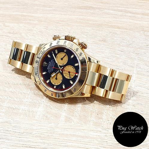 "Rolex OP 18K Yellow Gold Black ""Paul Newman"" Cosmograph Daytona  REF: 116528 (2)"