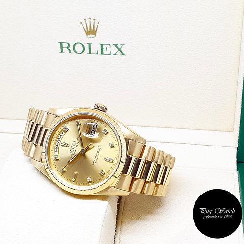 Rolex 18K Yellow Gold Champagne Vignette Diamonds Day-Date REF: 18238