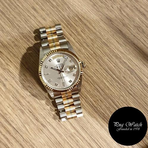 "Rolex 18K Full Gold""Tridor"" Oyster Perpetual Day-Date REF: 18239B (2)"