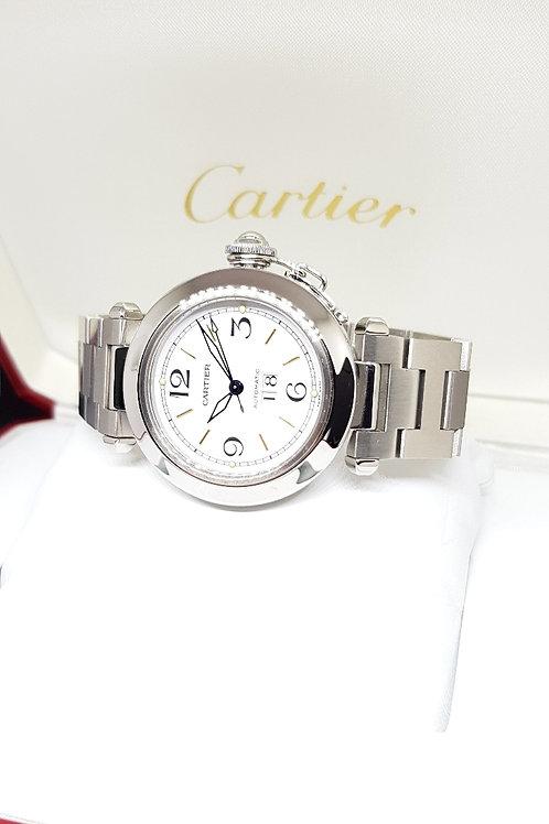 Cartier White Pasha Big Date REF: 2475