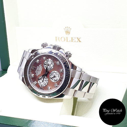 Rolex Oyster Perpetual 18K White Gold Tahitian MOP Diamonds Daytona REF: 116509