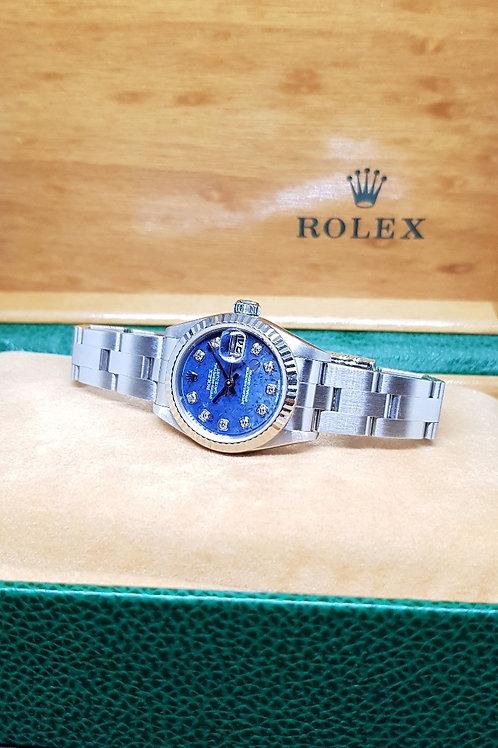 Rolex Blue Sodalite Diamonds Lady Datejust REF: 79174