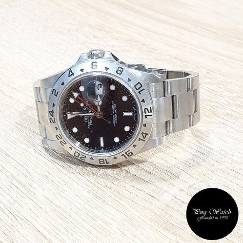 Rolex Oyster Perpetual Black Explorer 2 REF: 16570 (V Series)(Rehaut Ring)(2)
