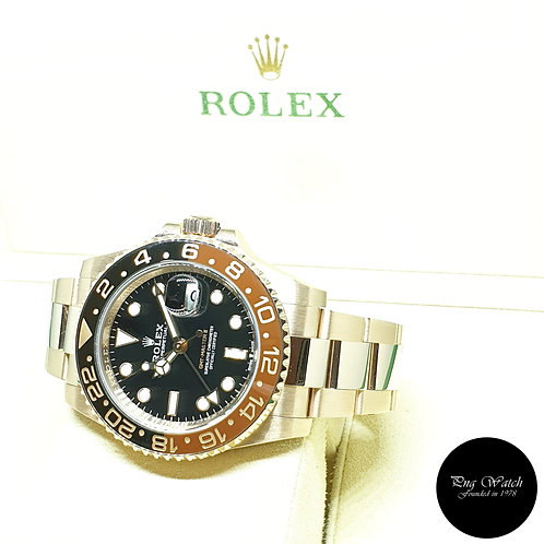 """(NOT AVAILABLE) Rolex 18K Full Rose Gold """"ROOTBEER"""" GMT Master 2 REF: 126715CHNR"""