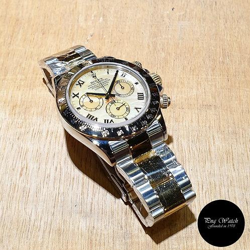 Rolex Oyster Perpetual 18K Half Gold Yellow MOP Roman Daytona REF: 116523 (D)(2)