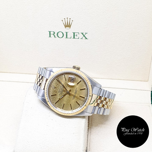 Rolex Oyster Perpetual 18K Half Gold Champagne Computer Datejust REF: 16233 (92)