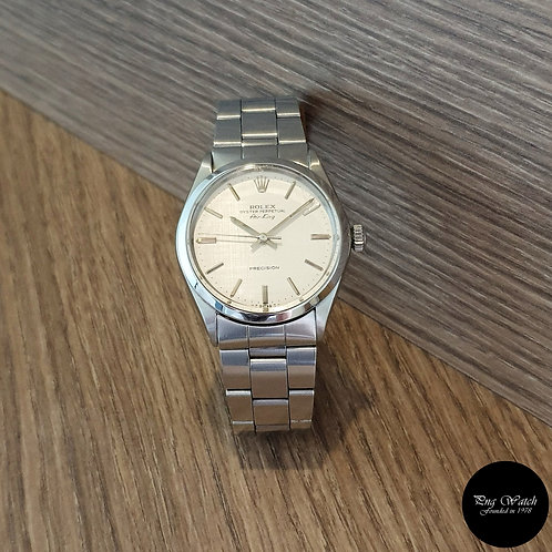 Rolex Oyster Perpetual Silver Linen Air-King REF: 5500 (2)