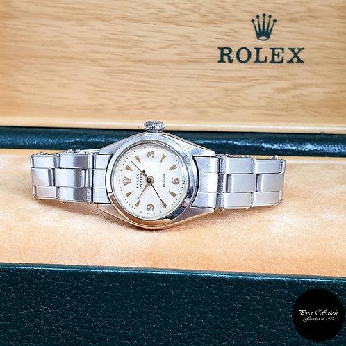 Vintage Rolex Ladies White Oyster Precision REF: 5004