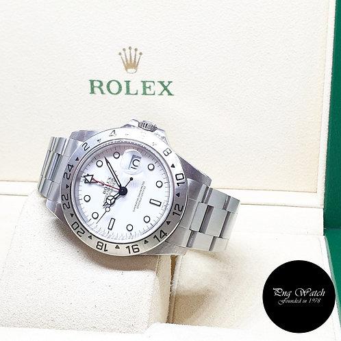 "Rolex Oyster Perpetual White ""POLAR"" Explorer 2 REF: 16570 (A Series)"