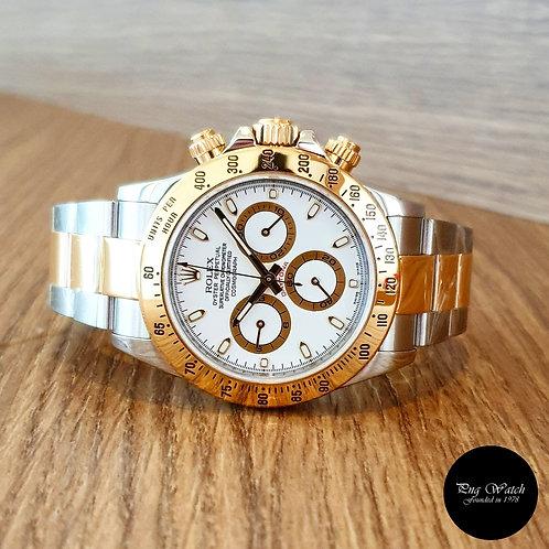Rolex 18K Half Gold White Index Cosmograph Daytona REF: 116523 (AN Series)(2)