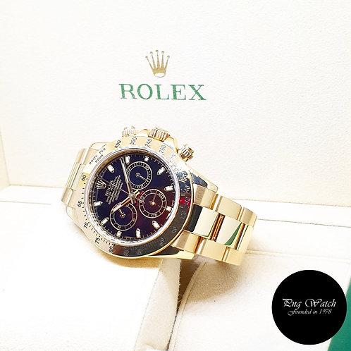 Rolex 18K Yellow Gold Black Indexes Cosmograph Daytona  REF: 116528