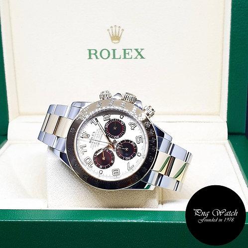 Rolex 18K Half gold Panda Cosmograph Daytona REF: 116523 (Overseas Set)