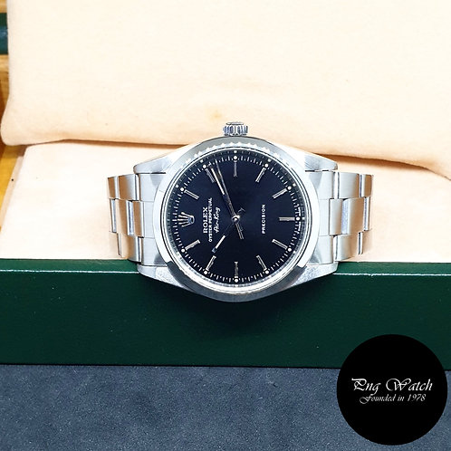 Rolex Oyster Perpetual Tritium 34mm Black Air-King REF: 14000 (U series)