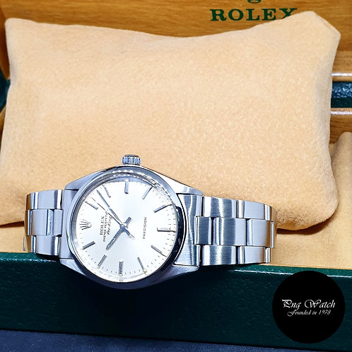 Rolex Oyster Perpetual Silver Air-King REF: 5500 (Full Set)