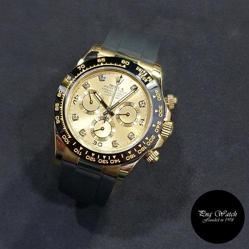 Rolex OP 18K Yellow Gold Champagne Diamonds Daytona REF: 116518LN (2)