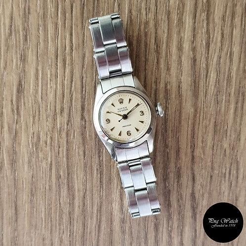 Vintage Rolex Ladies White Oyster Precision REF: 5004 (2)