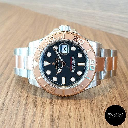 Rolex 18K Half Rose Gold Black Yachtmaster REF: 116621 (2)