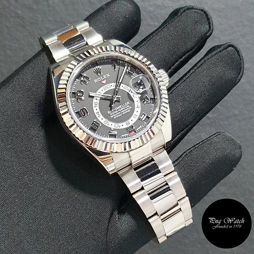 Rolex Oyster Perpetual 18K Full White Gold Black Sky Dweller REF: 326939 (2)