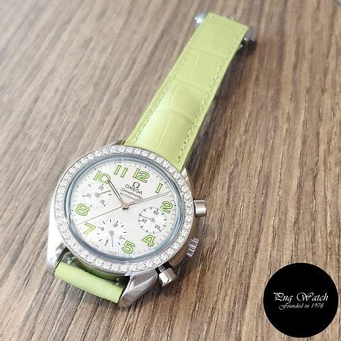 Omega Lime Green Speedmaster Diamonds REF: 3835.72.35 (2)