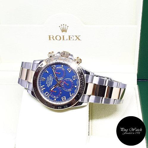 Rolex Oyster Perpetual 18K Half Gold Blue Arabic Cosmograph Daytona REF: 116503