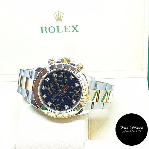 Rolex 18K Half Yellow Gold Black Diamonds Daytona REF: 116523 (2001)