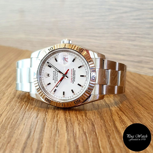 """Rolex Oyster Perpetual White """"Turn-O-Graph"""" Datejust REF: 116264 (2)"""