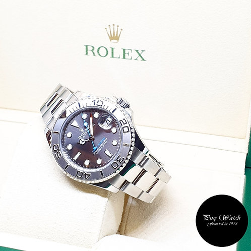 Rolex Oyster Perpetual Rhodium 37mm Yachtmaster REF: 268622 (2017)