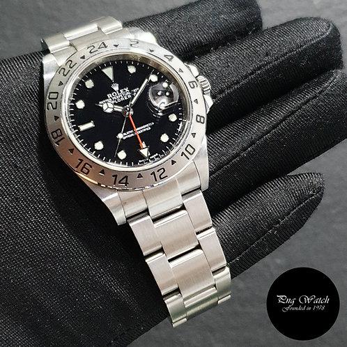 "Rolex Oyster Perpetual 40mm ""3186"" Black Explorer 2 REF: 16570 (12)(2)"