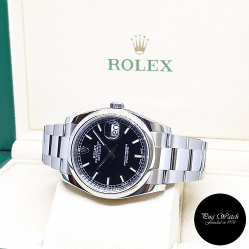 Rolex Oyster Perpetual 36mm Black Indexes Datejust REF: 116200 (2016)