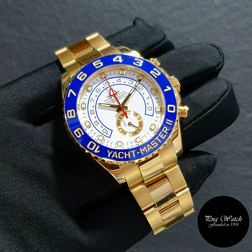 Rolex Oyster Perpetual 18K Full Yellow Gold Yachtmaster II REF: 116688 (10)(2)