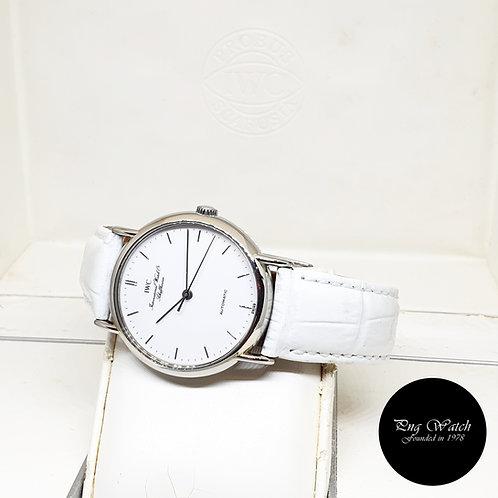 IWC 34mm White Portofino REF: 3513