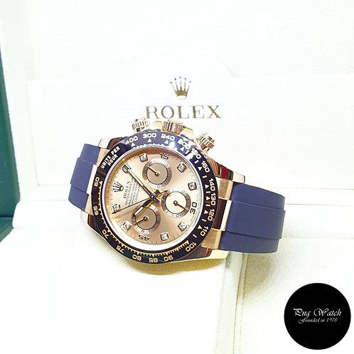 Rolex Oyster Perpetual 18K Yellow Gold Champagne Diamonds Daytona REF: 116518LN
