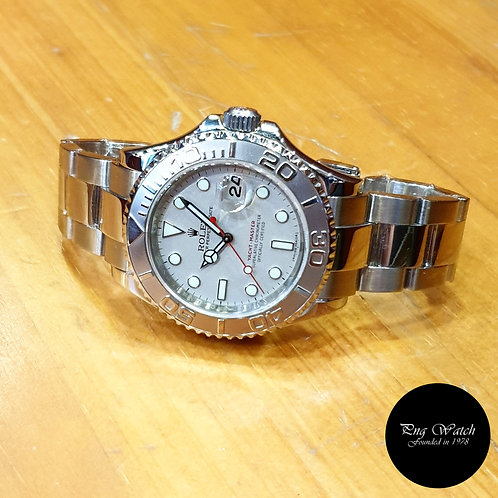 Rolex Oyster Perpetual Platinium 40mm Yachtmaster REF: 16622 (M)(2)