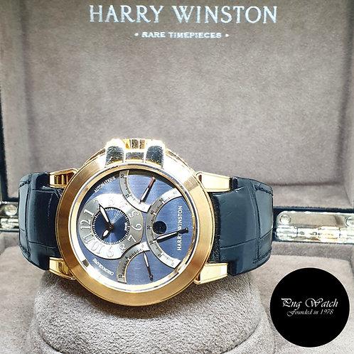 Harry Winston 18K Rose Gold Triple Retrograde (Ocean Collection) REF: 400-MCRA44