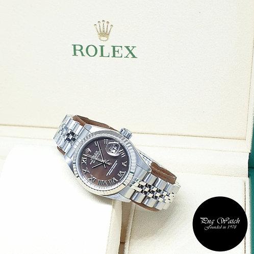 Rolex Oyster Perpetual 26mm Steel Black MOP Lady Datejust REF: 79174 (2002)