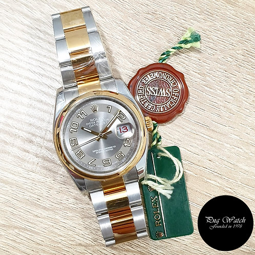Rolex OP 36mm 18K Half Gold Silver Arabic Datejust REF: 116203 (G)