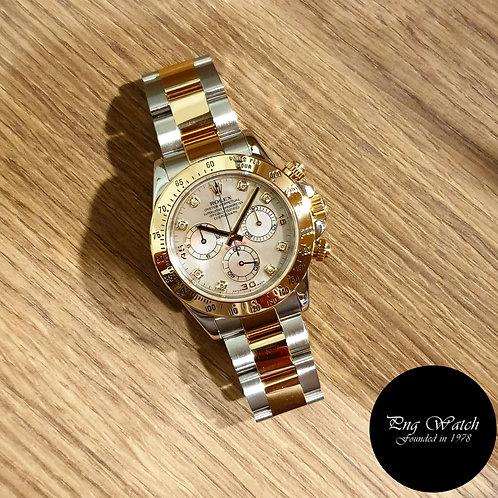 Rolex 18K Half Gold MOP Diamonds Daytona REF: 116523 (2)