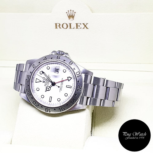 "Rolex Oyster Perpetual White ""POLAR"" Explorer 2 REF: 16570 (F Series)"