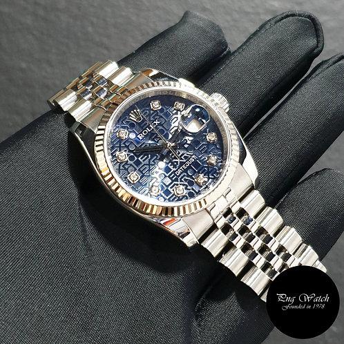 Rolex Oyster Perpetual 36mm Blue Computer Diamonds Datejust REF: 116234 (17)(2)