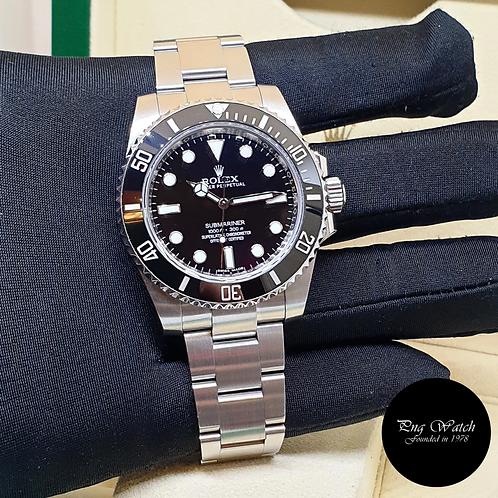 Rolex Oyster Perpetual 40mm Ceramic Black Submariner No Date REF: 114060 (17)(2)