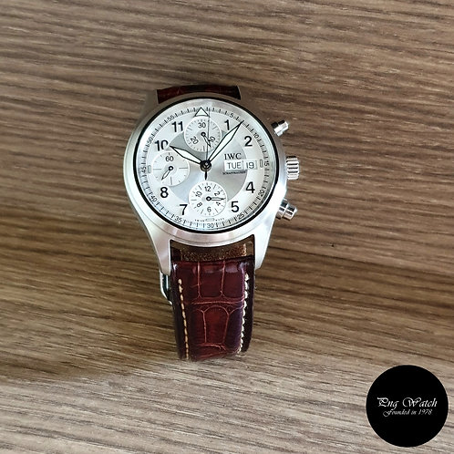 IWC Silver Spitfire Flieger Chronograph Watch REF:3706 (2)