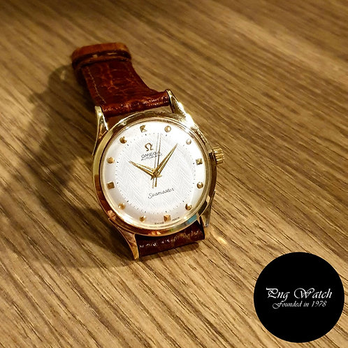 "Vintage Omega 18K Yellow Gold ""Hammer"" Automatic Seamaster (2)"