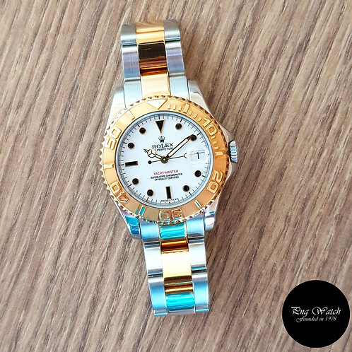 Rolex Oyster Perpetual Date White Yachtmaster Boy Size REF: 68623 (2)