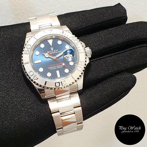 Rolex Oyster Perpetual Blue 40mm Platinum Bezel Yachtmaster REF: 116622 (2)