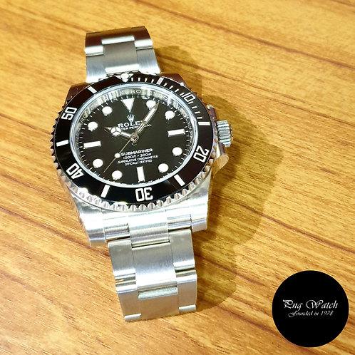 Rolex Stainless Steel Ceramic No Date Black Submariner REF: 114060 (2)